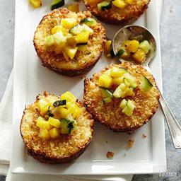 Crab-Shrimp Cakes with Mango-Cucumber Salsa