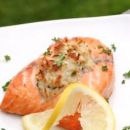 Crab-Stuffed Salmon