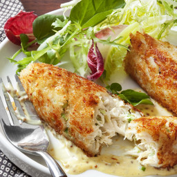Crabmeat Cakes with Mustard Sauce