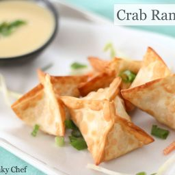 Crab Rangoons with Mustard Sauce