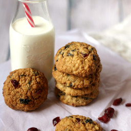 Cranberry and Prunes Oats Wholewheat Cookies