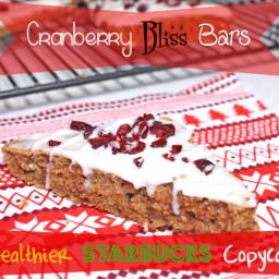 Cranberry Bliss Bars {Healthier Starbucks Copycat}