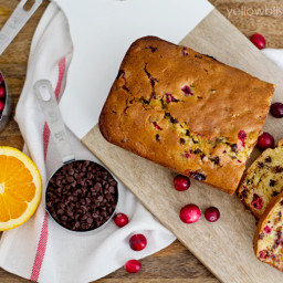 Cranberry Chocolate Chip Quick Bread