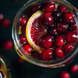 Cranberry Orange Detox Water