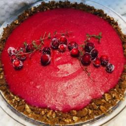 Cranberry Orange Gingersnap Pie