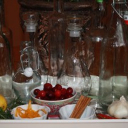 Cranberry Orange Infused Vinegar