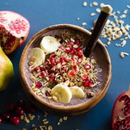 Cranberry Pear Acai Bowl