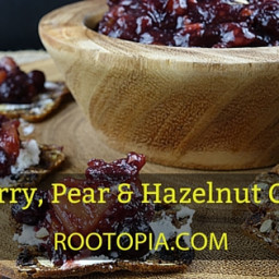 Cranberry, Pear, and Hazelnut Chutney