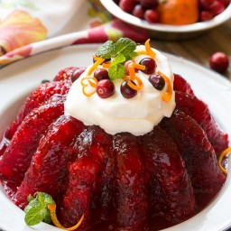 Cranberry Pineapple Gelatin Mold