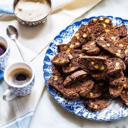 Cranberry Pistachio Chocolate Biscotti
