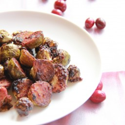 Cranberry Roasted Brussel Sprouts w