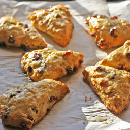 Cranberry Scones with Orange Glaze