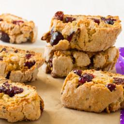 Cranberry Walnut Biscotti (Vegan)