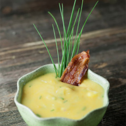 Cream Cheese and Chive Potato Soup
