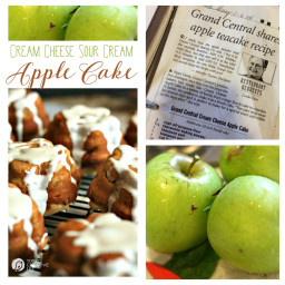 Cream Cheese and Sour Cream Apple Cake