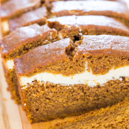 CREAM CHEESE-FILLED PUMPKIN BREAD  by Averie Cooks