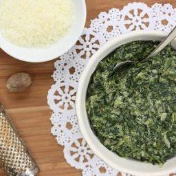 Cream-less Creamed Spinach