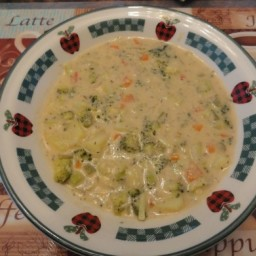 Cream of Broccoli Deluxe Soup