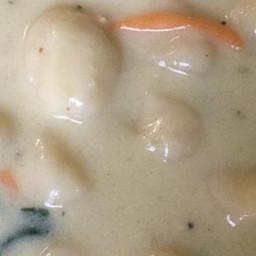 Cream of Chicken and Gnocchi Soup