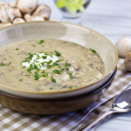 Cream of Mushroom and Wild Rice Soup