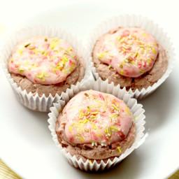 Cream Stuffed Strawberry Shortcake Cupcakes