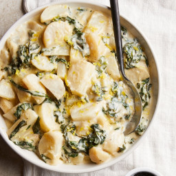 Creamed Turnips and Greens