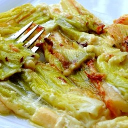 Creamy Baked Leeks with Garlic, Thyme & Parmigiano