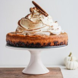 Creamy Baked Vegan Pumpkin Pie Cheesecake