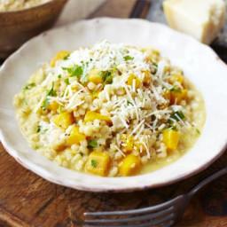 Creamy barley and squash risotto