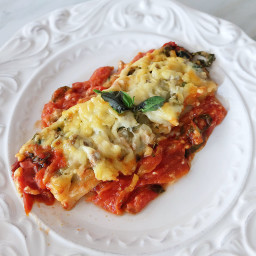 Creamy Beef and Spinach Cannelloni