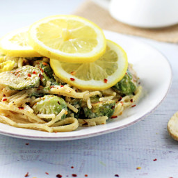 Creamy Brussels Sprout Pasta