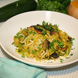 Creamy Butternut Sauce Over 'Zoodles' & 'Poodles'