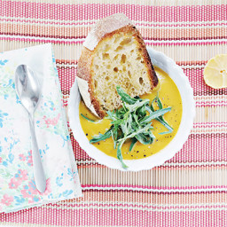Creamy Butternut Squash and Kale Soup from The Plantiful Table by Andrea Du