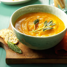 Creamy Butternut Squash and Sage Soup Recipe