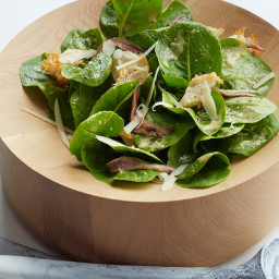 Creamy Caesar Salad with Torn Croutons