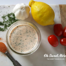 Creamy Cajun Ranch Dressing (Low Fat and Probiotic)