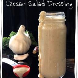 Creamy Cashew Caesar Salad Dressing