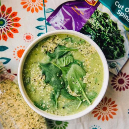 Creamy Cauliflower and Spinach Soup