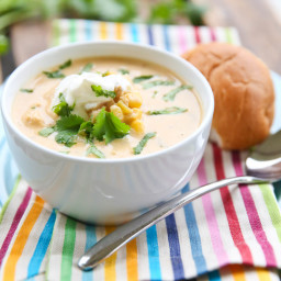Creamy Chicken and Rice Taco Soup
