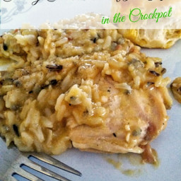 Creamy Chicken and Wild Rice (Crockpot)