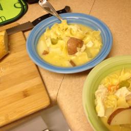 Creamy Chicken Noodle and Potato Soup