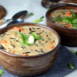 Creamy Chicken Wild Rice Soup {Dairy-Free}