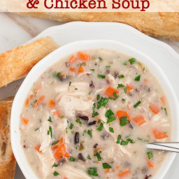 Creamy Chicken Wild Rice Soup (+Holiday Inspiration)
