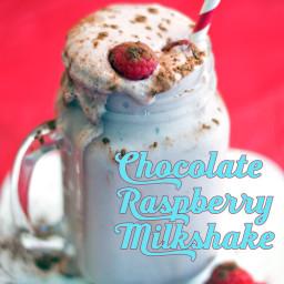 Creamy Chocolate Raspberry Milkshake