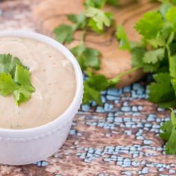 Creamy Cilantro-Garlic Dressing