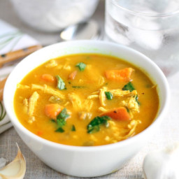 Creamy Coconut Curry Chicken and Vegetable Soup