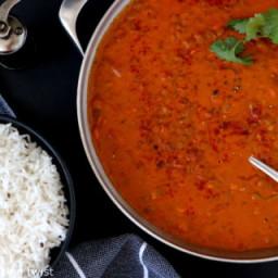 Creamy Coconut Lentil Curry (vegan, gluten free)