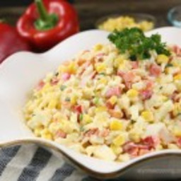 Creamy Crab and Rice Salad