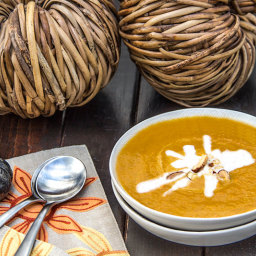 Creamy Curry Cocunut Pumpkin Soup