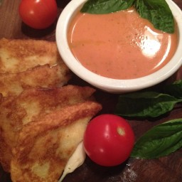 Creamy Fire Roasted Tomato Basil Soup